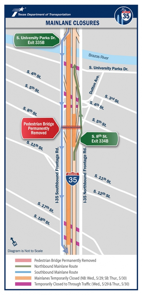 Important I-35 Update: Full Mainlane, Frontage Road Closures May 28 - I 35 Central Texas Traffic Map