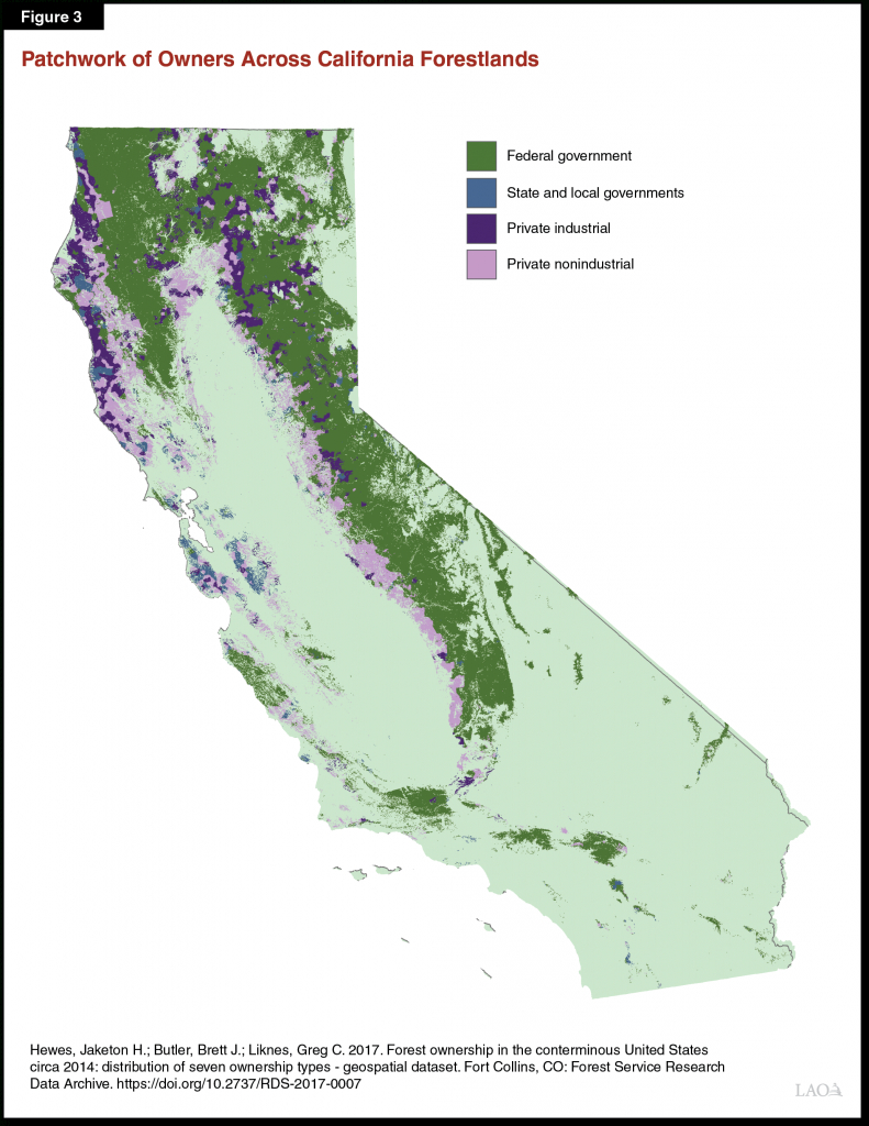 Improving California's Forest And Watershed Management - California Forests Map