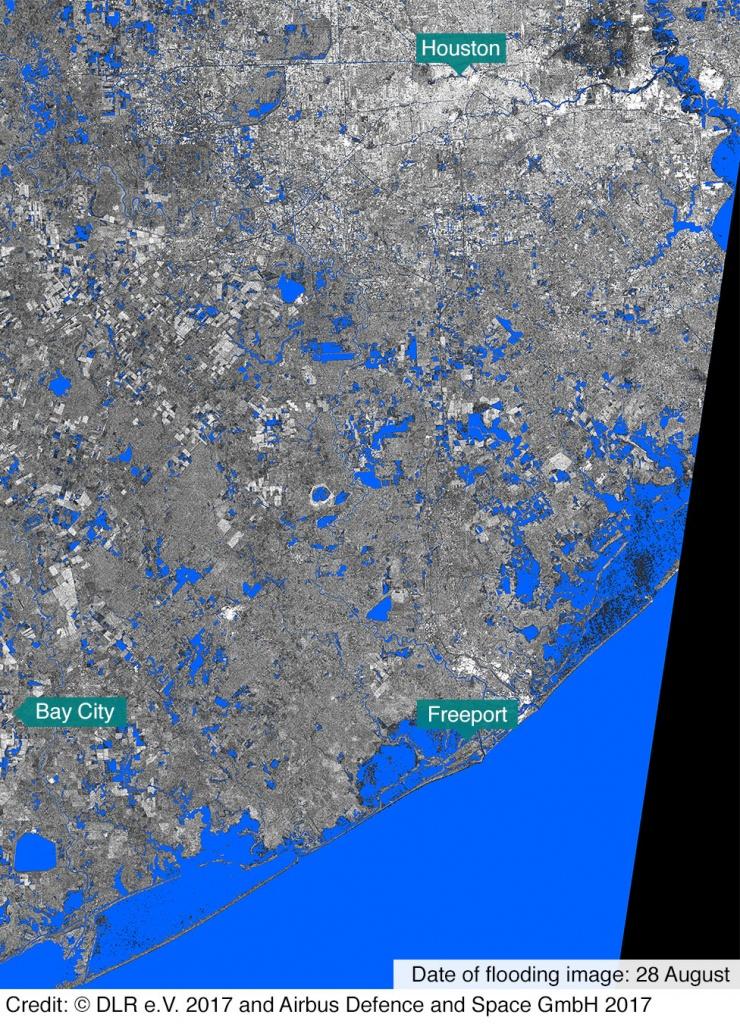 In Maps: Houston And Texas Flooding - Bbc News - Texas Flood Map