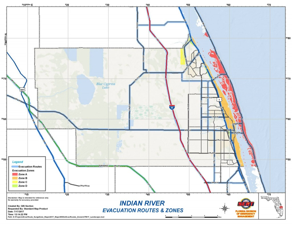 Indian River County Evacuation Zones And Evacuation Routes | Blog - Florida Evacuation Route Map