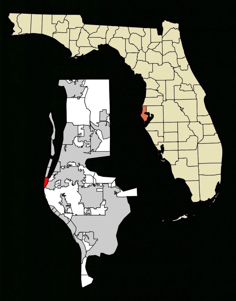 Indian Rocks Beach, Florida - Wikipedia - Indian Beach Florida Map