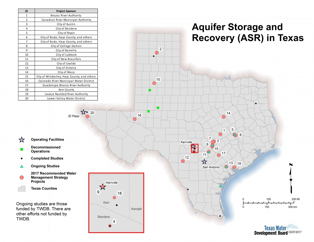 Innovative Water Technologies - Aquifer Storage And Recovery | Texas - Texas Water Development Board Well Map