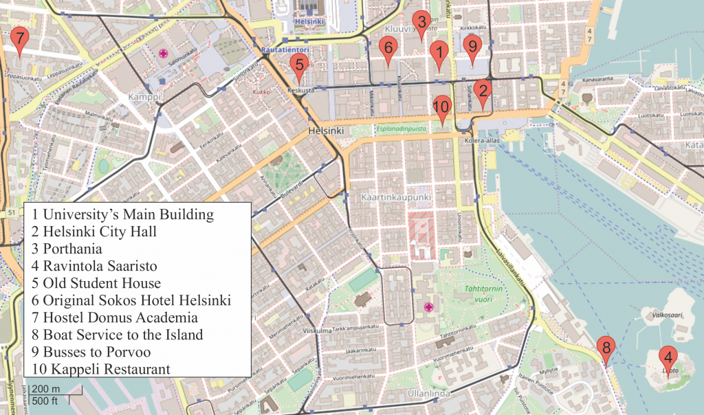 Instructions - Hrms 2017 - Helsinki City Map Printable