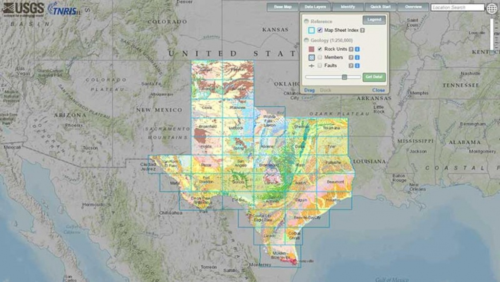 Interactive Geologic Map Of Texas Now Available Online - Interactive Map Of Texas