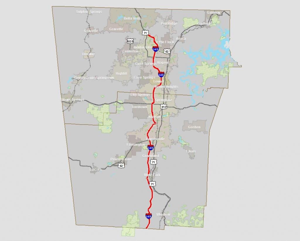 Interactive Gis Maps | Northwest Arkansas Regional Planning Commission - Razorback Greenway Printable Map