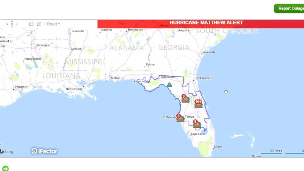 Interactive Live Map Shows Power Outages In Florida! - Youtube - Power Outages In Florida Map