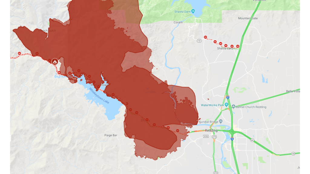 Interactive Map: A Look At The Carr Fire Burning In Shasta County - Redding California Fire Map