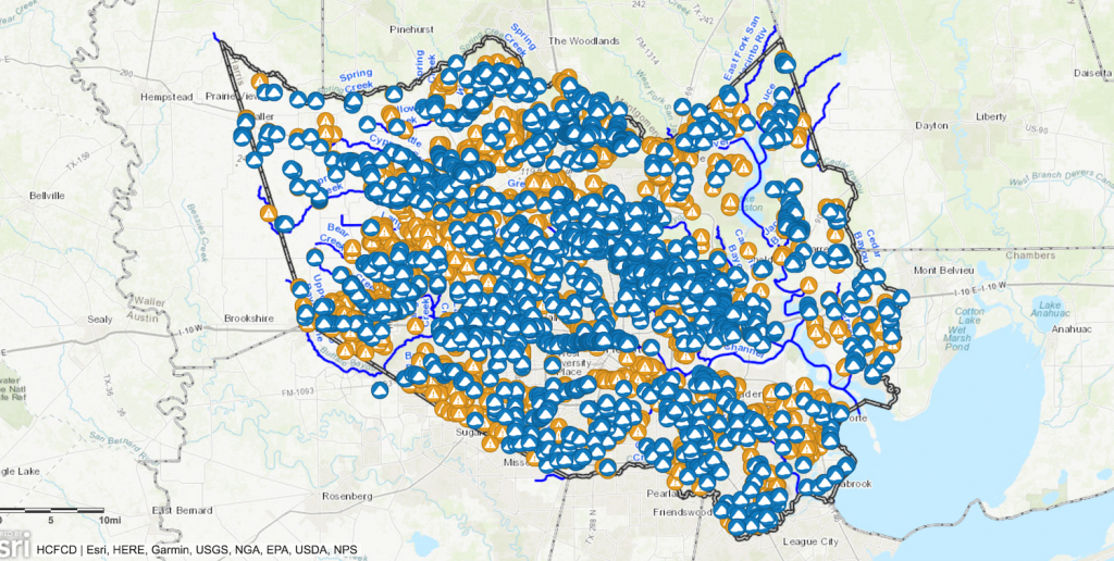 Interactive Map Shows Repair, Debris Removal Throughout Harris - Harris County Texas Flood Map
