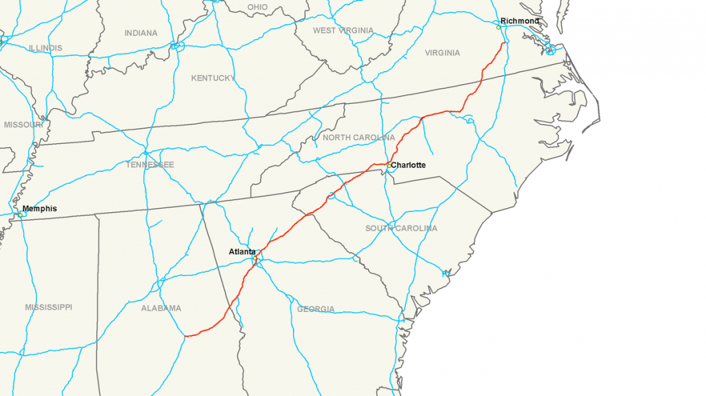 Interstate 85 - Wikipedia - Texas Mile Marker Map I 20