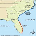 Intracoastal Waterway Through Charleston, S.c.   Florida Waterways Map