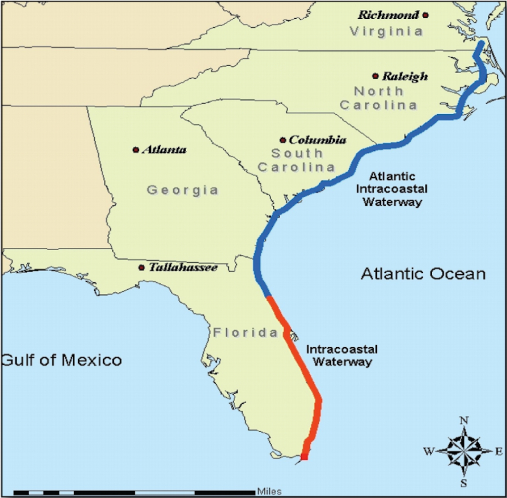 Intracoastal Waterway Through Charleston, S.c. - Florida Waterways Map