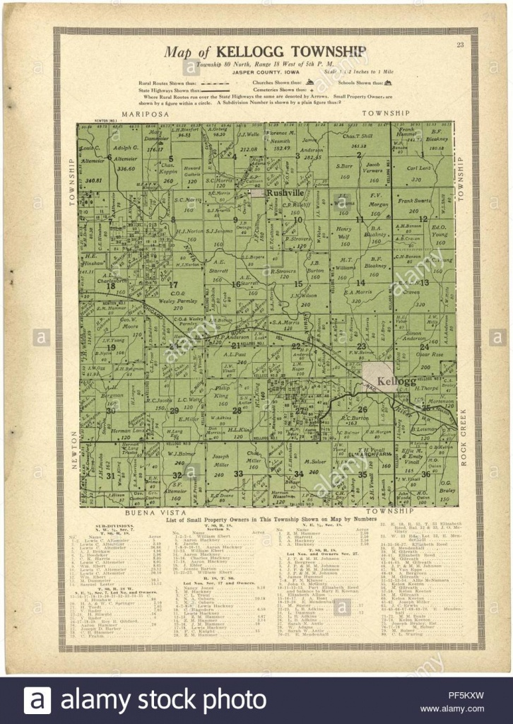 Iowa State In United Map Stock Photos & Iowa State In United Map - Jasper County Texas Parcel Map