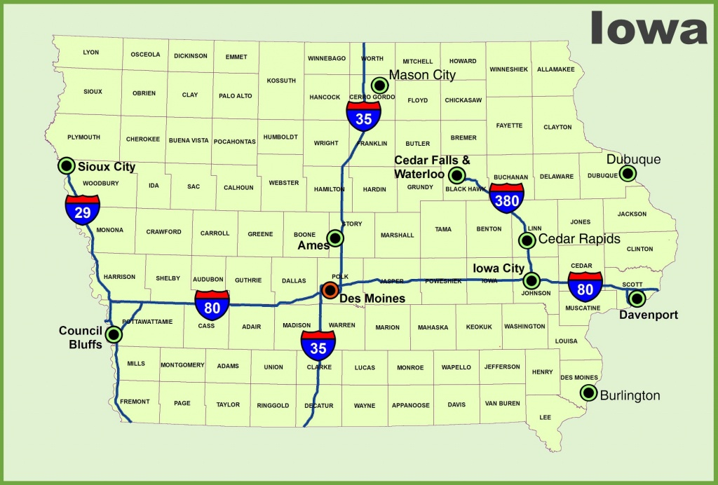 Iowa State Maps | Usa | Maps Of Iowa (Ia) - Printable Iowa Road Map