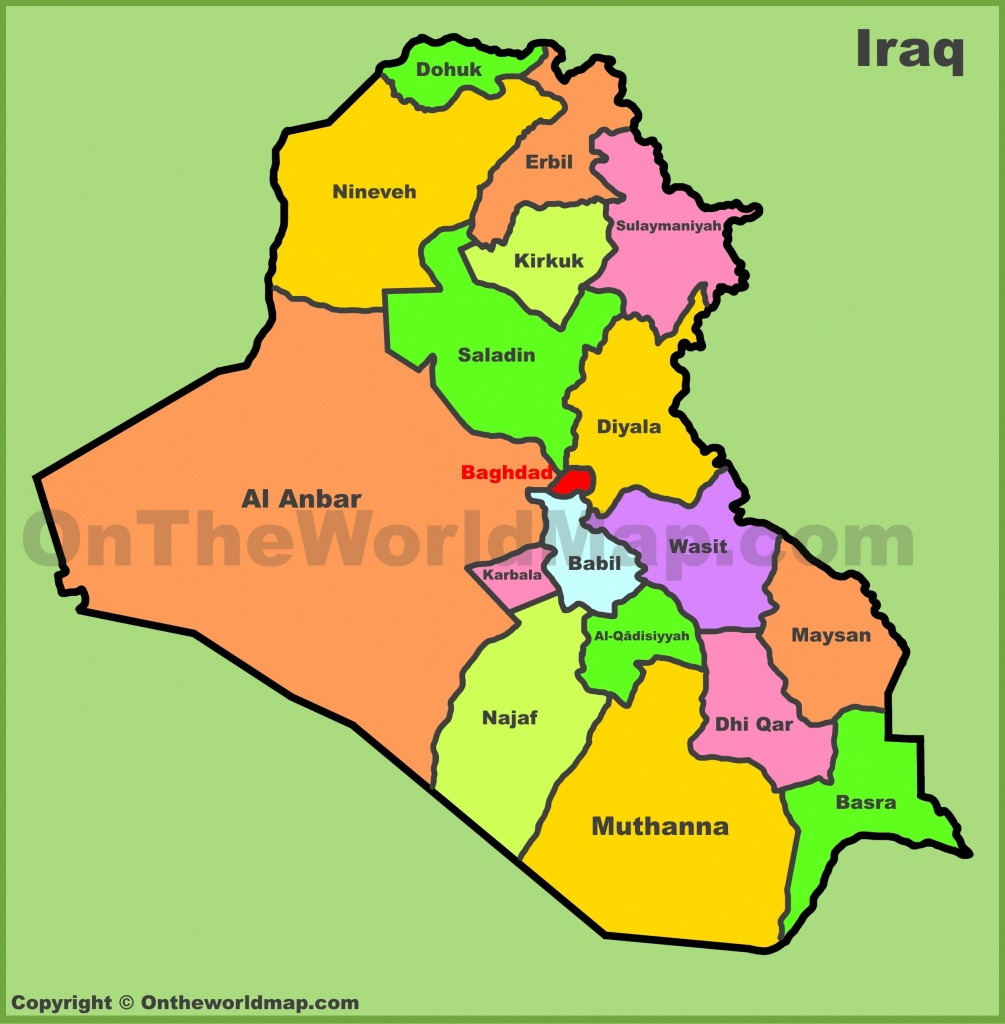 Iraq Maps | Maps Of Iraq - Printable Map Of Iraq