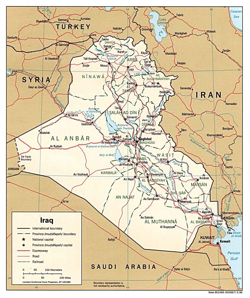 Iraq Maps - Perry-Castañeda Map Collection - Ut Library Online - Printable Map Of Iraq