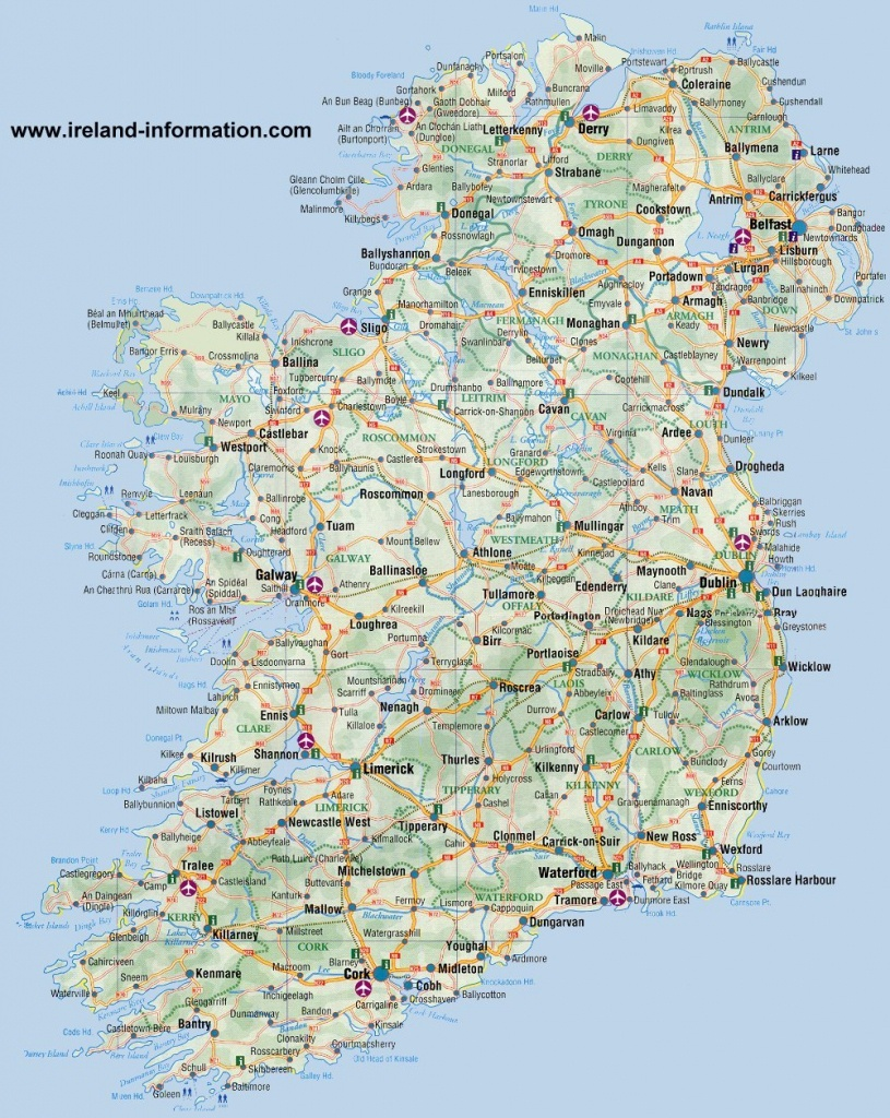 Ireland Maps Free, And Dublin, Cork, Galway - Galway City Map Printable