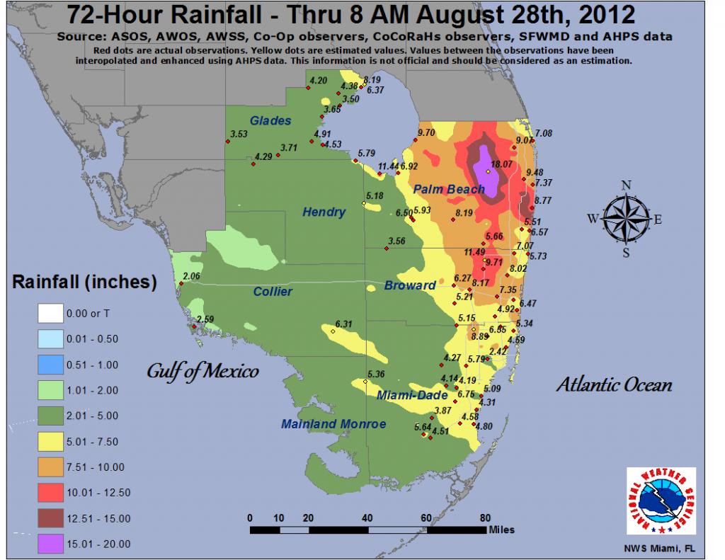 Isaac - South Florida Weather Map