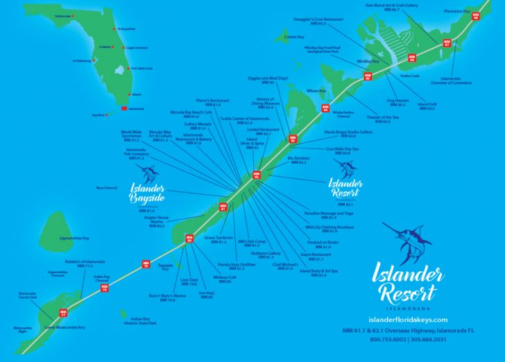 Florida Keys Dive Map