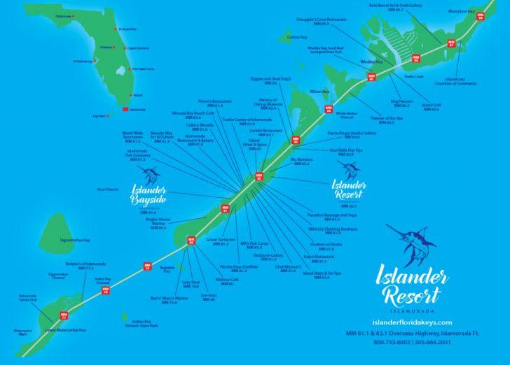 Florida Keys Dive Map