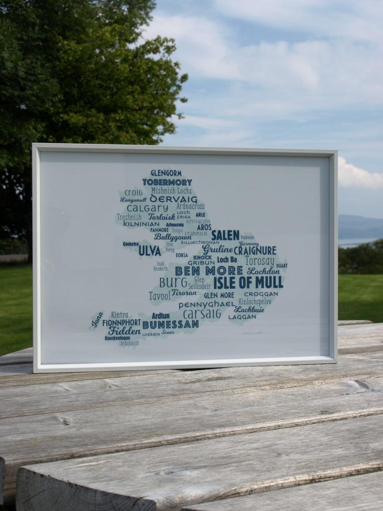 Isle Of Mull Map Digital Print – Biscuit Press Design - Printable Map Of Mull