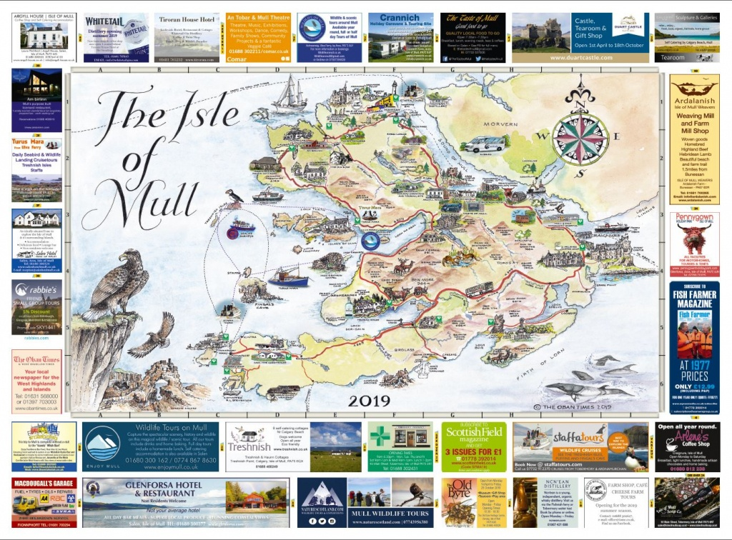Isle Of Mull & Mull And Iona Maps 2019 | The Oban Times - Printable Map Of Mull
