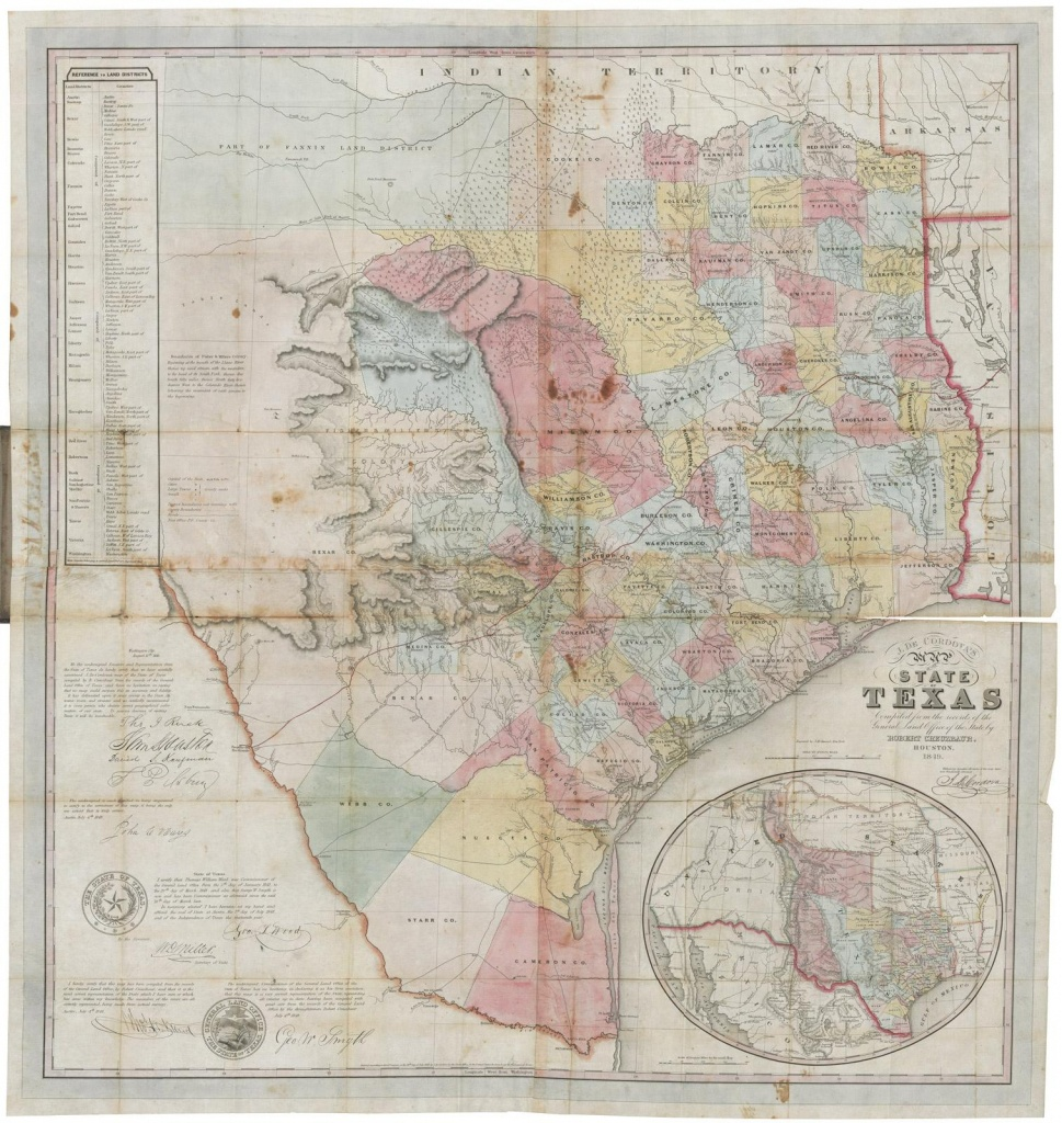 J. De Cordova's Map Of The State Of Texas Compiled From The Records - Texas Land Office Maps