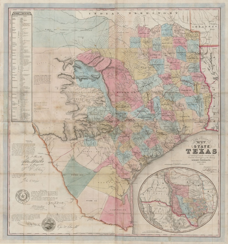 J. De Cordova's Map Of The State Of Texas… – Save Texas History – Medium - Texas Land Office Maps
