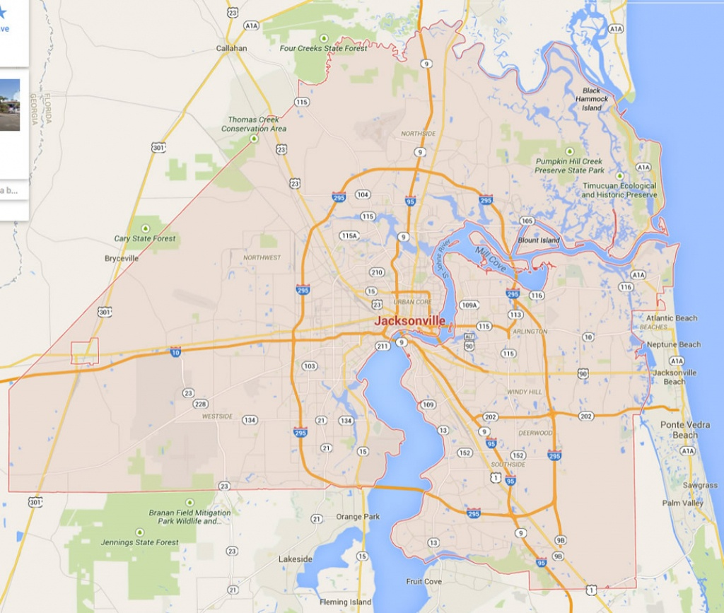 Jacksonville, Florida Map - Map To Jacksonville Florida