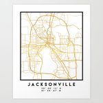 Jacksonville Florida Street Map Art Art Print   Florida Street Map