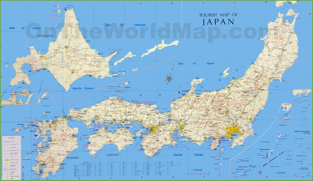 Japan Tourist Map - Printable Map Of Japan With Cities
