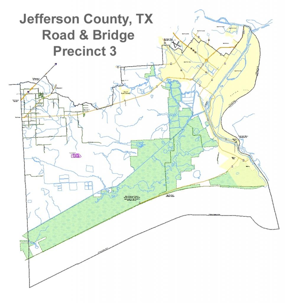 Jefferson County, Texas - Commissioner Precinct 3 - Jefferson County Texas Map