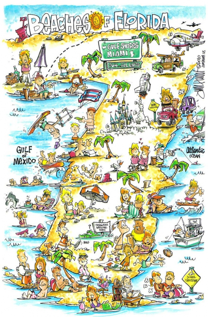 Jim Hunt's Map Of The Beaches Of Florida | Tallahassee, Florida - Panama Beach Florida Map