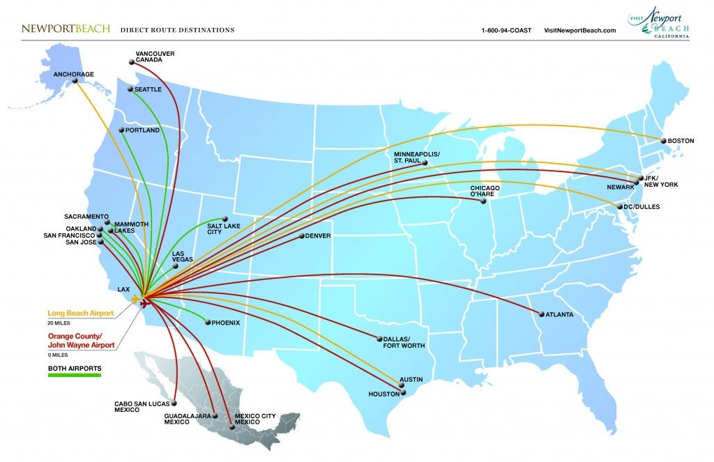 John Wayne Airport | Newport Beach Airport | Newport Beach, Ca - Newport California Map
