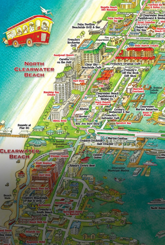 Jolley Trolley – Welcome Aboard Clearwater Jolley Trolley! - Map Of Clearwater Florida Beaches