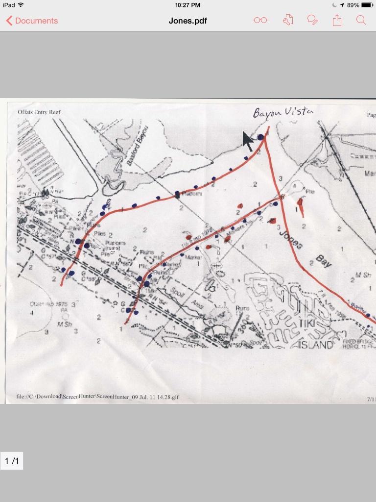 Jones Bay Channel Map. West Bay Galveston Tx   Texas Gulf Coast - Texas Coastal Fishing Maps