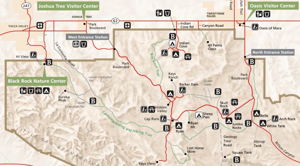 Joshua Tree Backpacking: The California Hiking & Riding Trail | Solo - California Hiking Trails Map