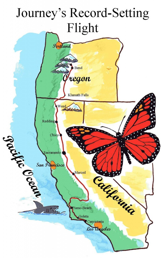 Journey's Flight | Sisters Middle School - Monarch Butterfly Migration Map California