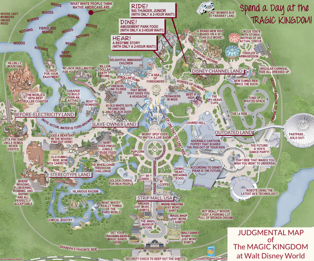 Judgmental Maps — Magic Kingdom, Disney Worldorlando Truth - Disney Florida Maps 2018