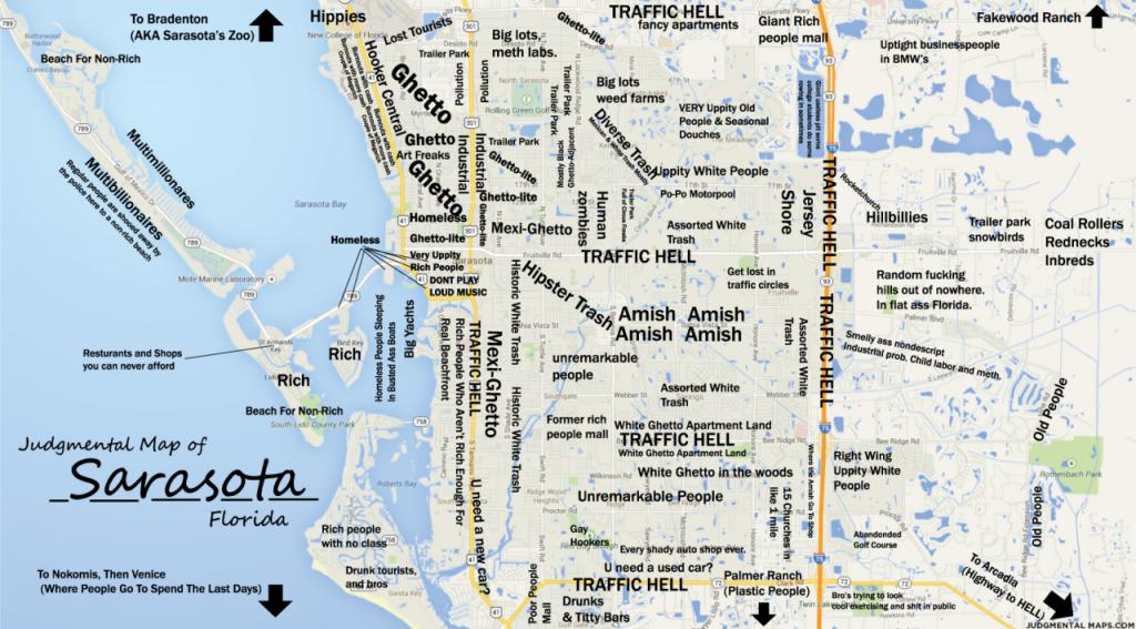 Judgmental Maps — Sarasota, Fltony Copr. 2014 Tony. All Rights - Sarasota Beach Florida Map