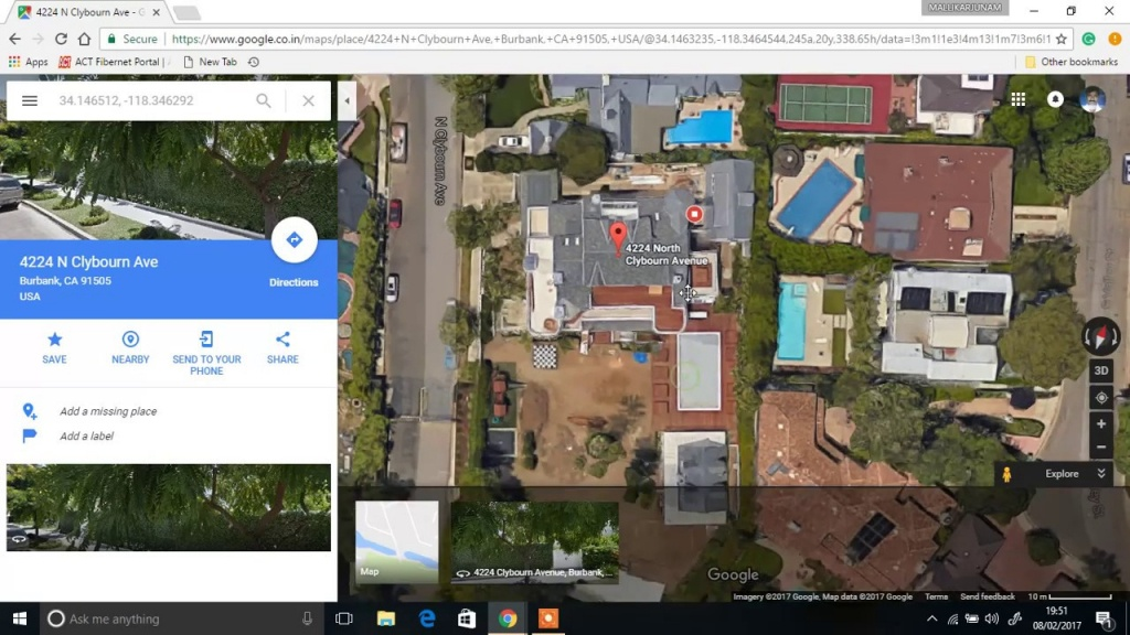 Justin Bieber's New House In La (Exposed In Google Maps) - Youtube - Google Maps Calabasas California