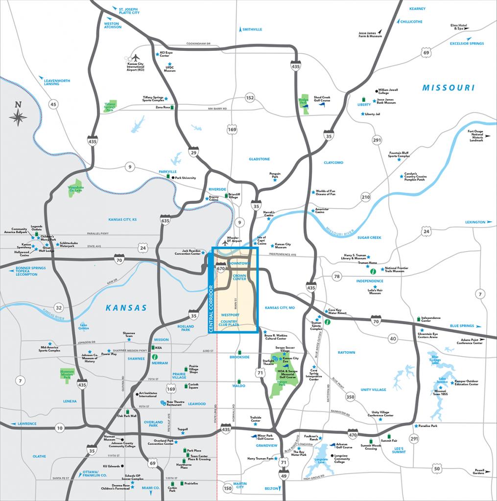 Kansas City Metro Map | Visit Kc - Printable Kansas Map With Cities