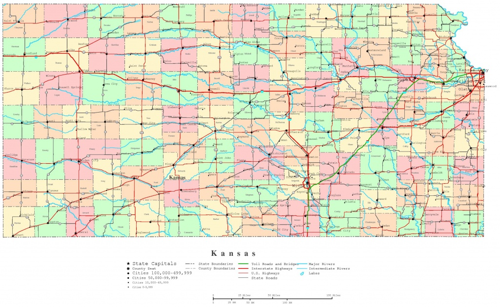 Kansas Printable Map - Printable State Maps With Counties