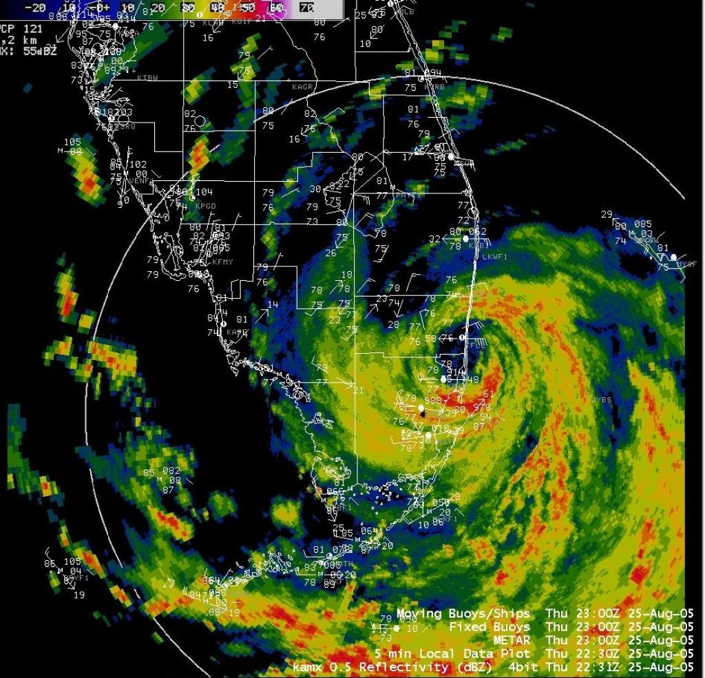 Katrina - South Florida Weather Map