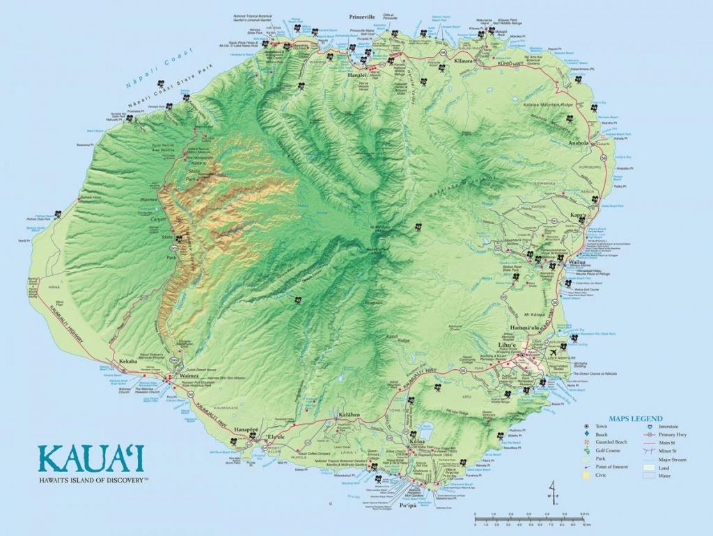 Kauai Island Maps & Geography | Go Hawaii - Printable Map Of Kauai Hawaii