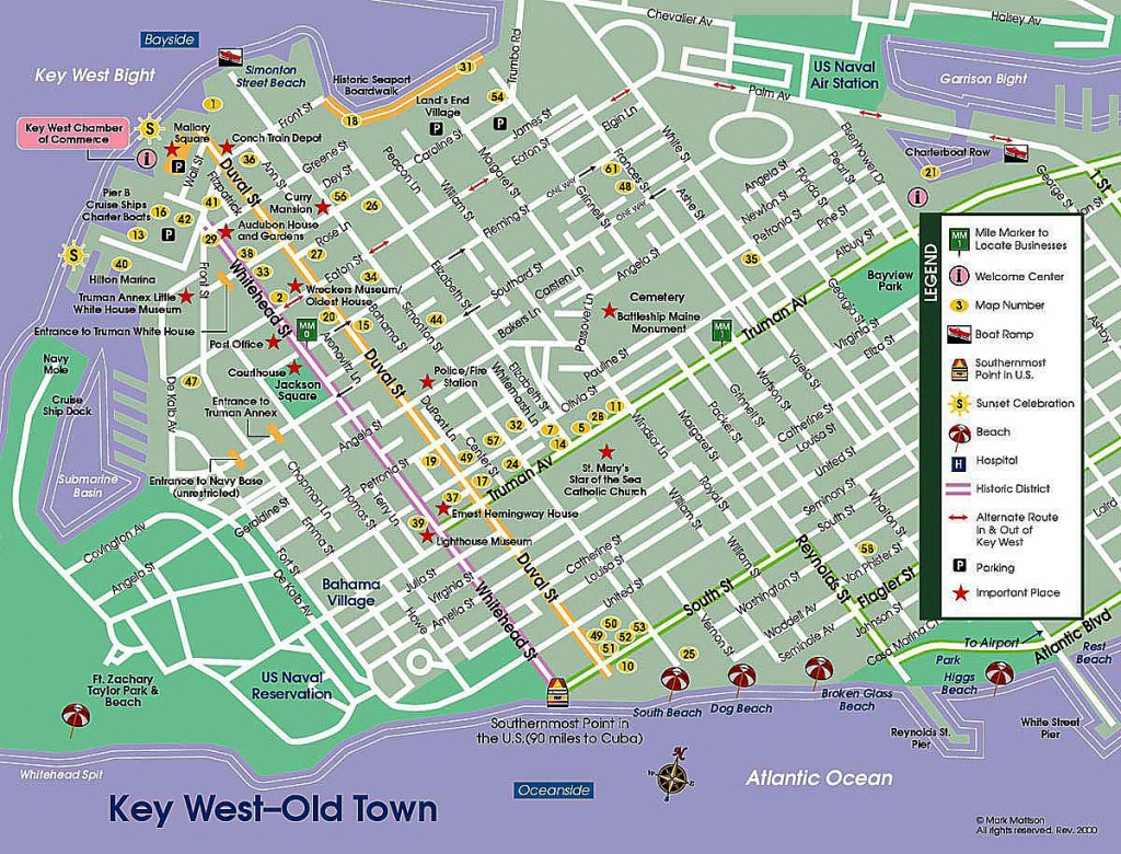 Key West Street Map | Map Of Key West - The Dis Discussion Forums - Map Of Key West Florida Attractions