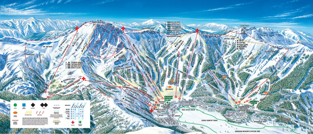 Kirkwood - Skimap - Kirkwood California Map