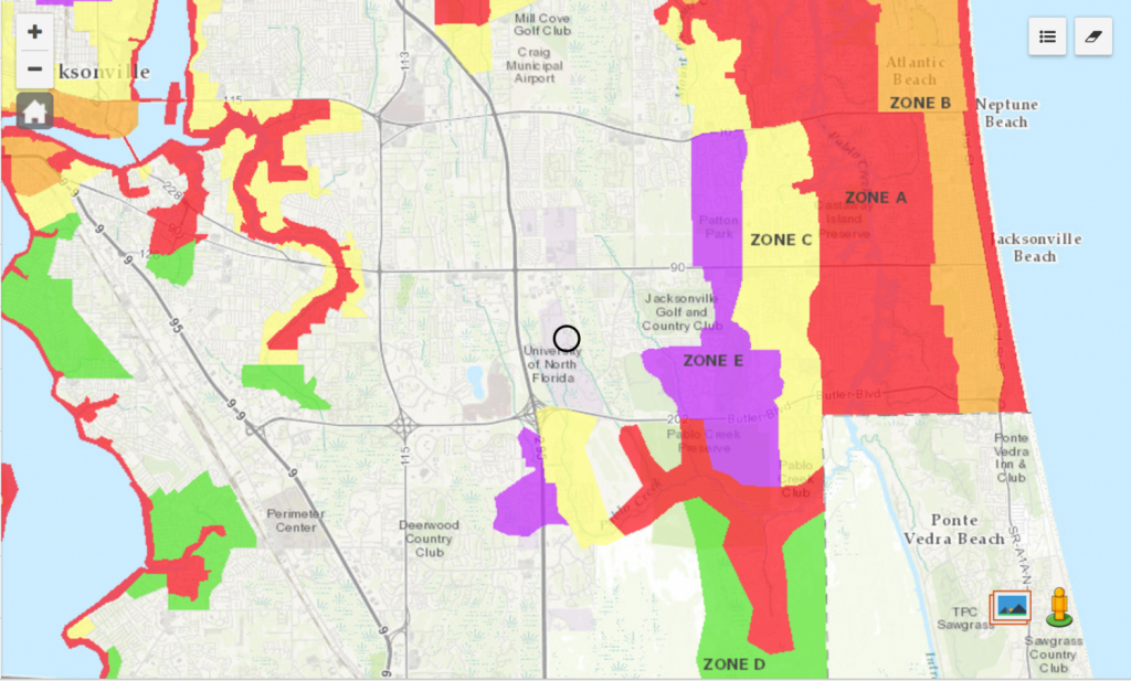 Know Your Zone: Jacksonville's Evacuation Zones And Where Unf Fits - Florida Hurricane Evacuation Map