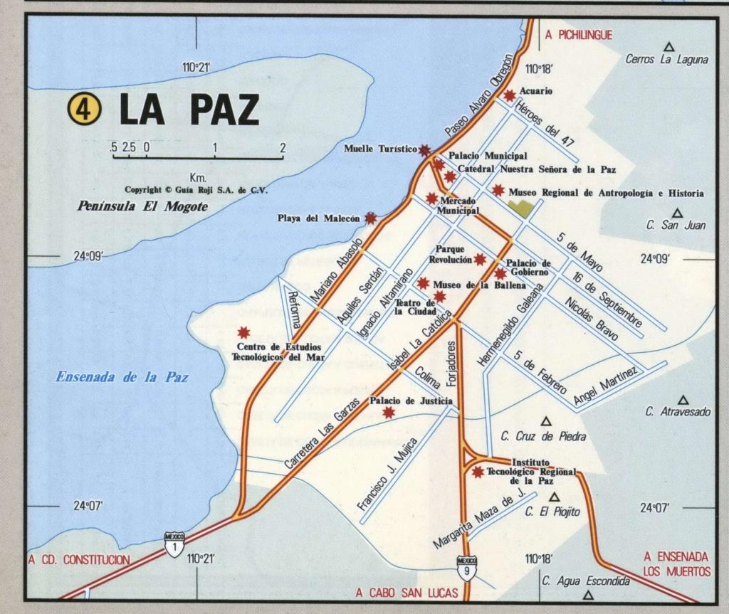 La Inspirational Map La Paz Mexico - Diamant-Ltd - La Paz Baja California Map