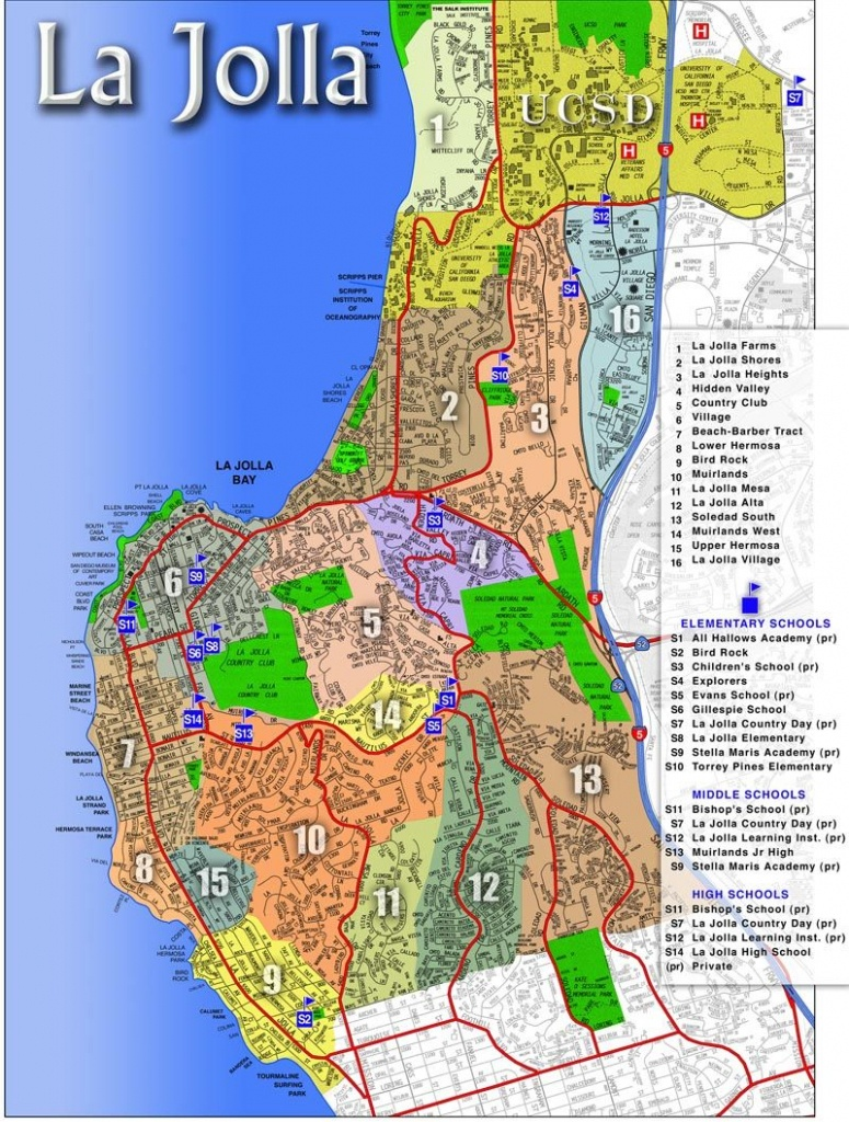 La Jolla Map | La Jolla, Ca - Luxury Real Estate | La Jolla - La Jolla California Map