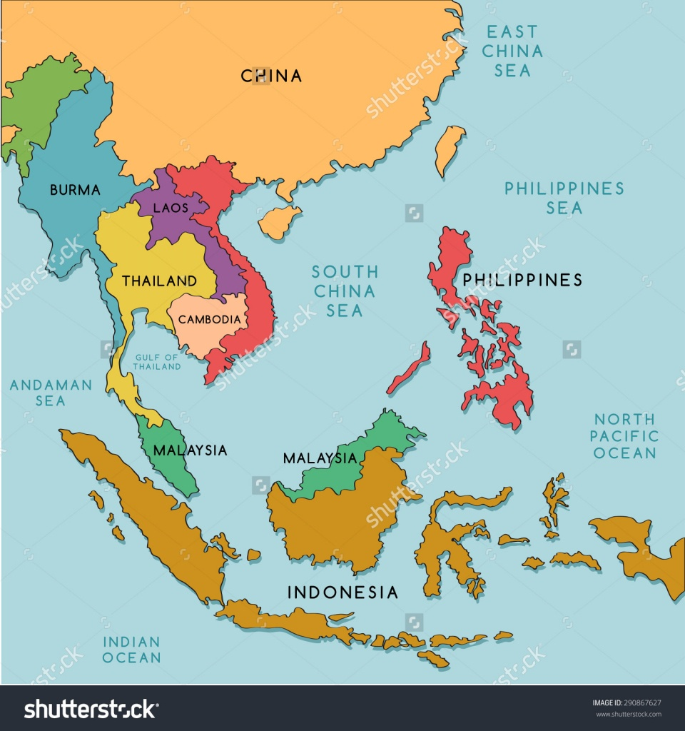 Labelled Map Of Asia And Travel Information | Download Free Labelled - Free Printable Map Of Asia